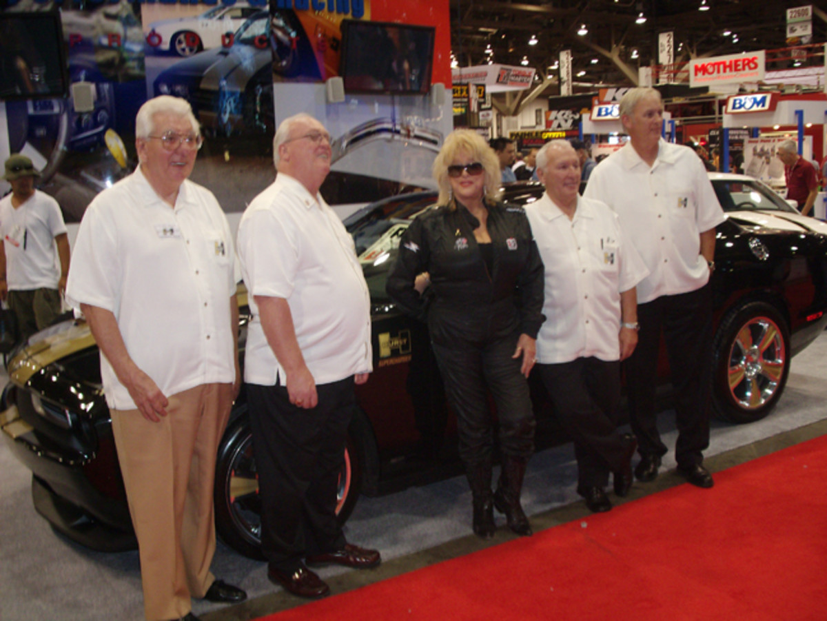 In 2009, Linda joined Doc Watson, Nate Sheldon and other VIPS to introduce a Hurst version of the last Gen Camaro. (John Gunnell photo)