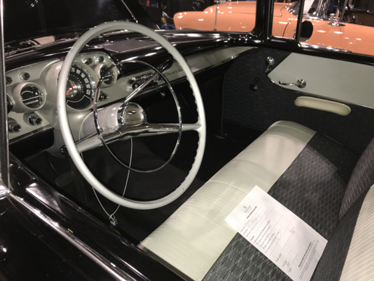 The upholstery and instrument panel jived with the mileage.