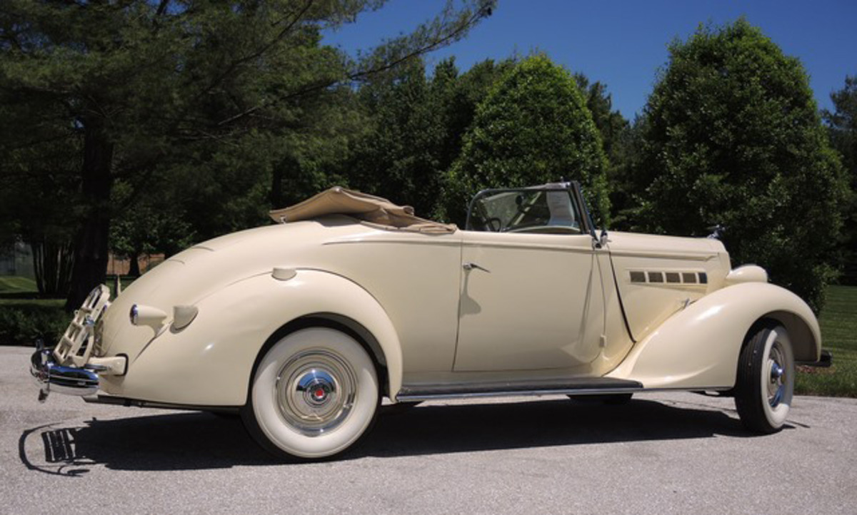 This 1936 Packard is being offered at no reserve with a pre-sale estimate of $57,000.