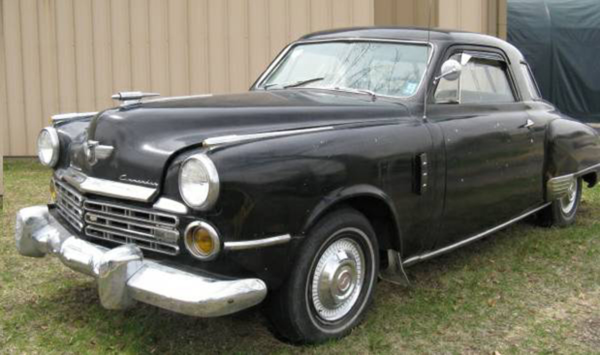 The 1949 Studebaker Commander looks nice, but may need an engine.