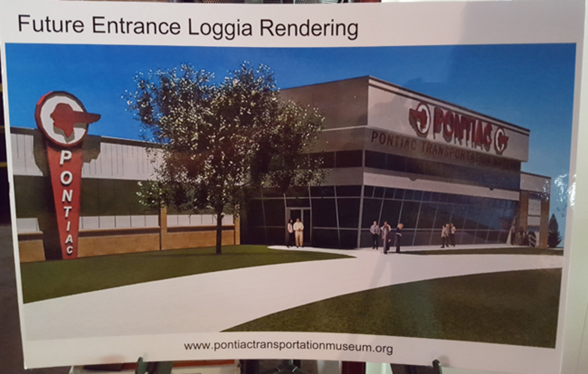 Rendering of the completed Pontiac Transportation Museum