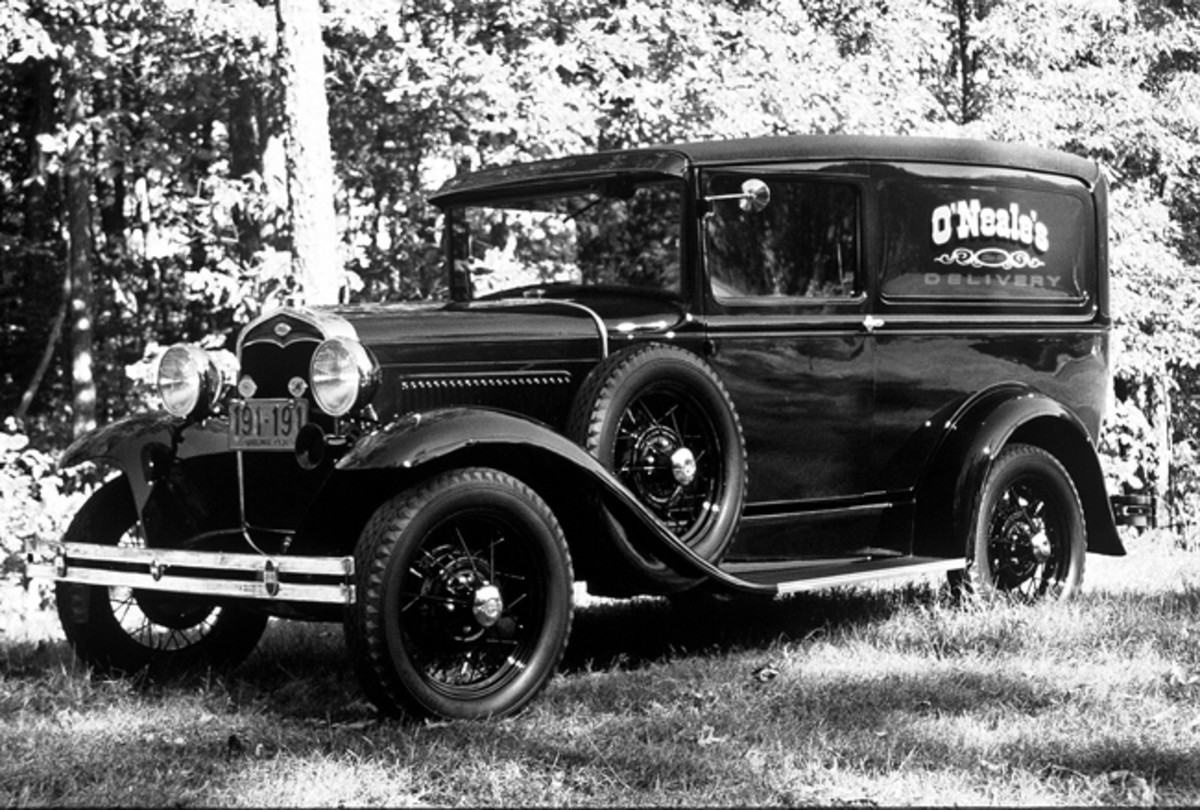 Ford's Deluxe Delivery (Model 130-B) used passenger-car components forward of the cowl, as well as the passenger car chassis. The engine was Ford's four-cylinder, 200.5-cid engine that pumped out 40 hp at 2,200 rpm.