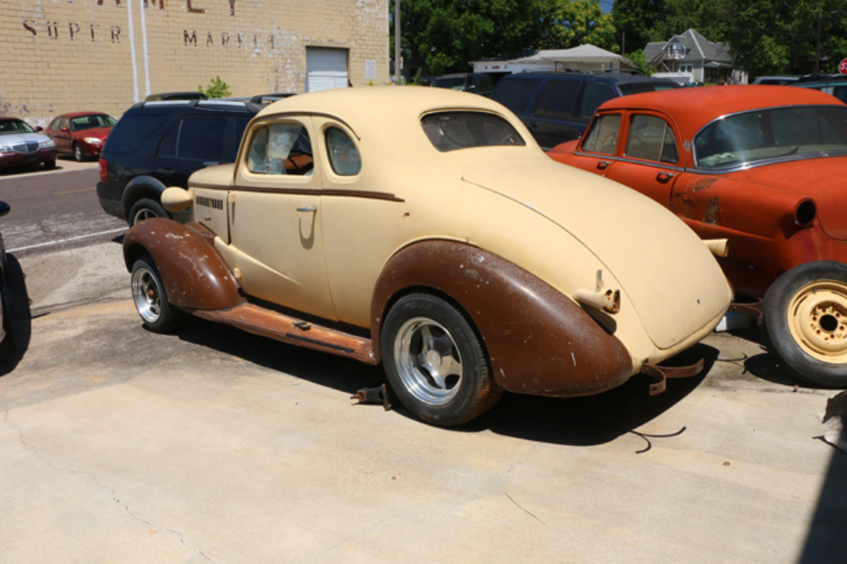 Another car available as a complete unit is this '38 Chevy project.