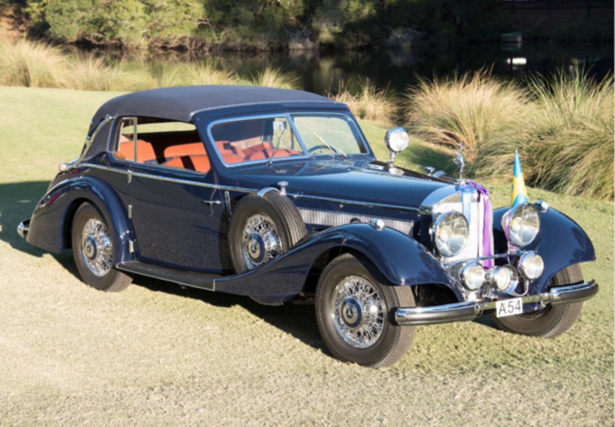 Best of Show winning 1938 Mercedes-Benz 540 Cabriolet. Photo - Hilton Head Concours d'Elegance
