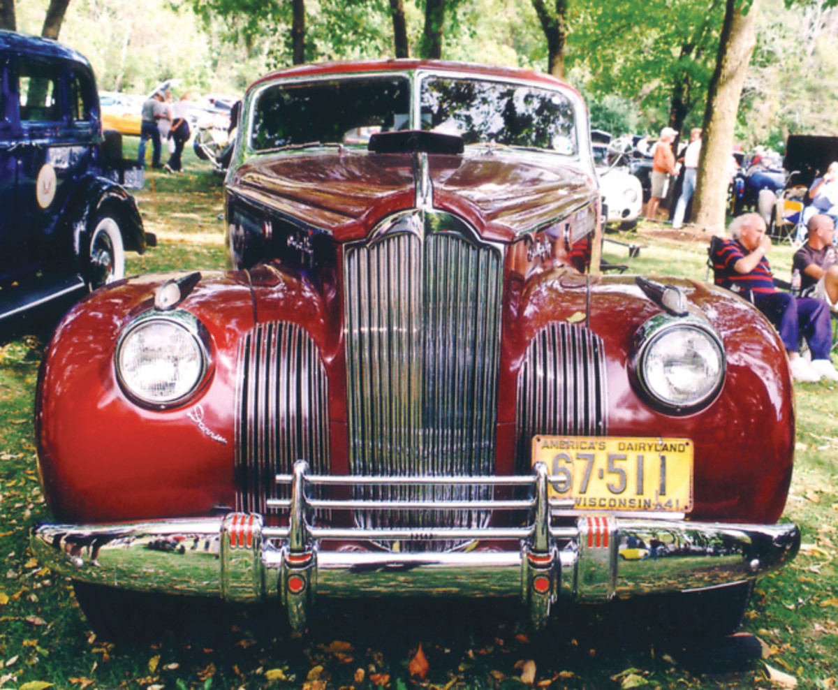 """The Packard with its tall, upright grille, was a favorite of coachbuilder Howard """"Dutch"""" Darrin. He used Packard's big 180 chassis as the basis for this Sport Sedan."""