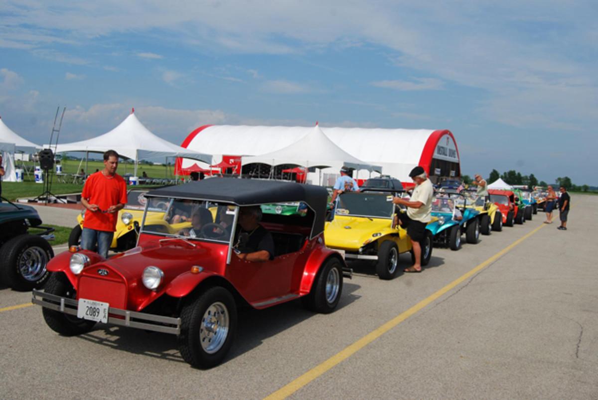 Over 100 dune buggies attended the Volkswagen Funfest last June.