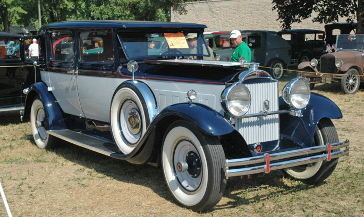 John West's 1930 Packard 740 Club Sedan added Gatsby glamour to the prewar show car section during its debut to the Iola Old Car Show.