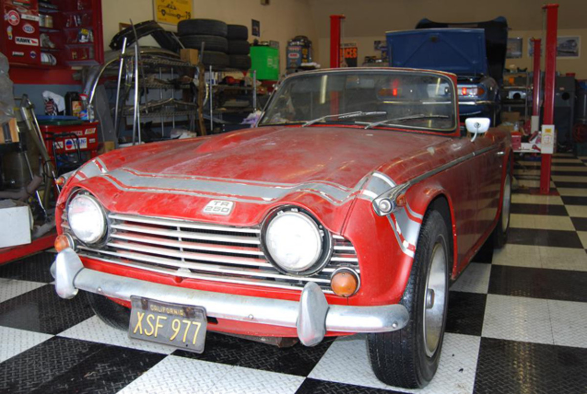 This 1968 Triumph TR250 has a low production number. The car has been sitting for 30 years awaiting a fix up.