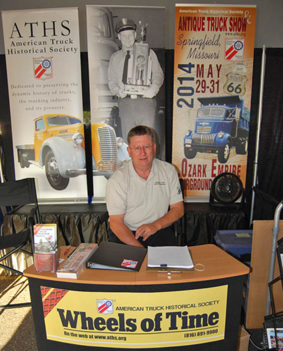 An ATHS representative was signing up new members at the Big Rig Show in Eau Claire, Wis.
