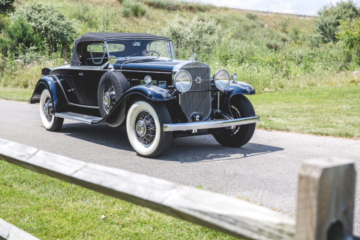 1931 Cadillac V-8 roadster by Fleetwood. Teddy Pieper © 2017 Auctions America