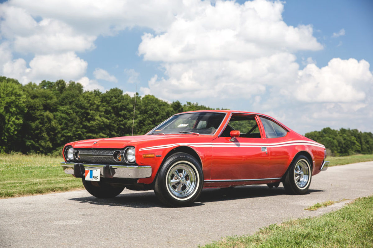 "1974 AMC Hornet Hatchback ""Astro Spiral"" James Bond Stunt Car. Teddy Pieper © 2017 Auctions America"