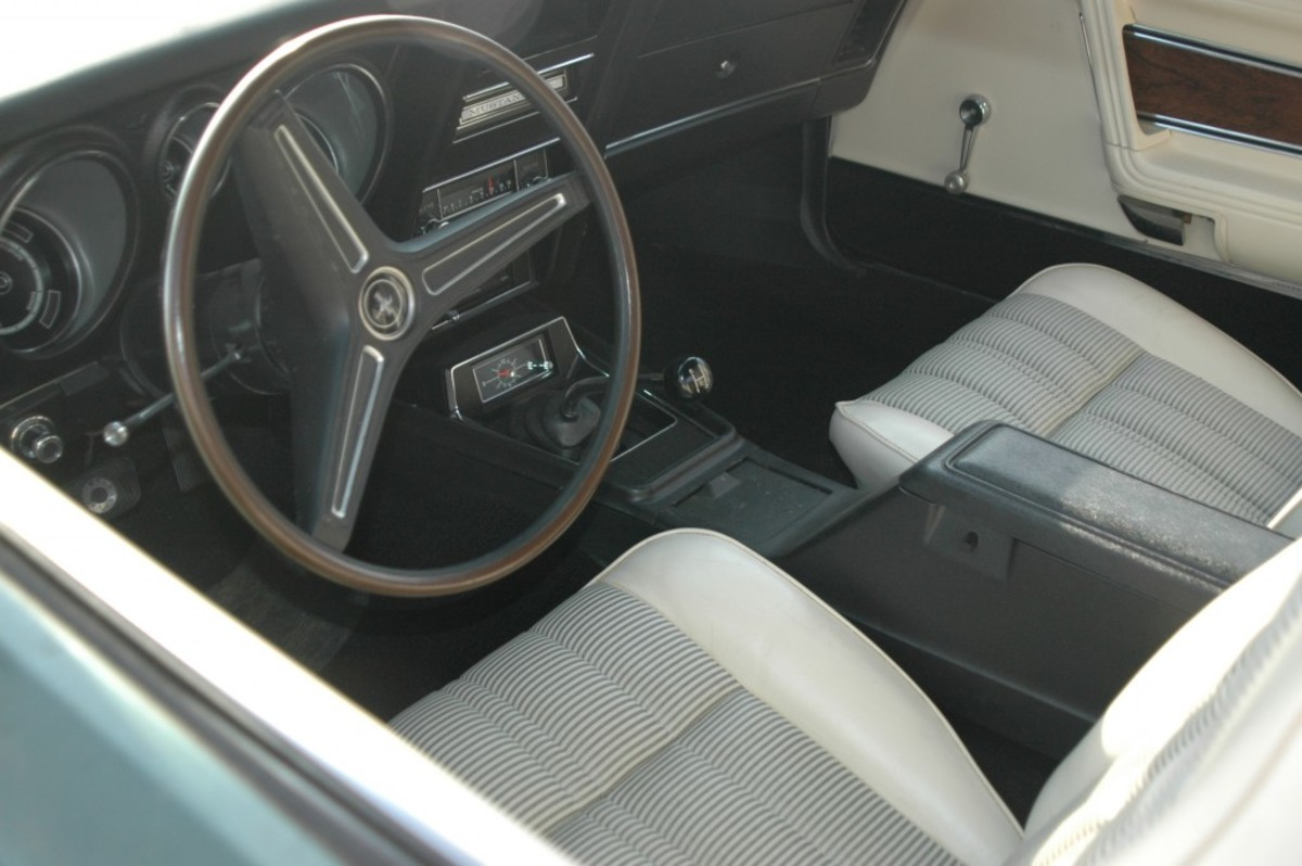 The interior of a 37-mile 1973 Ford product. This image was also taken before the car's detailing.