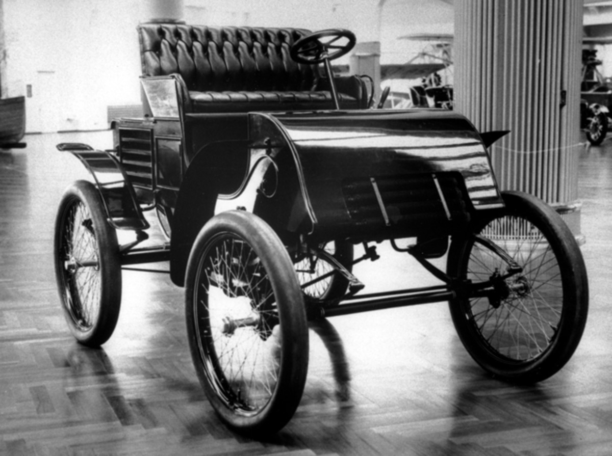 We have come a long way with suspension since the days of this 1899 Ford.
