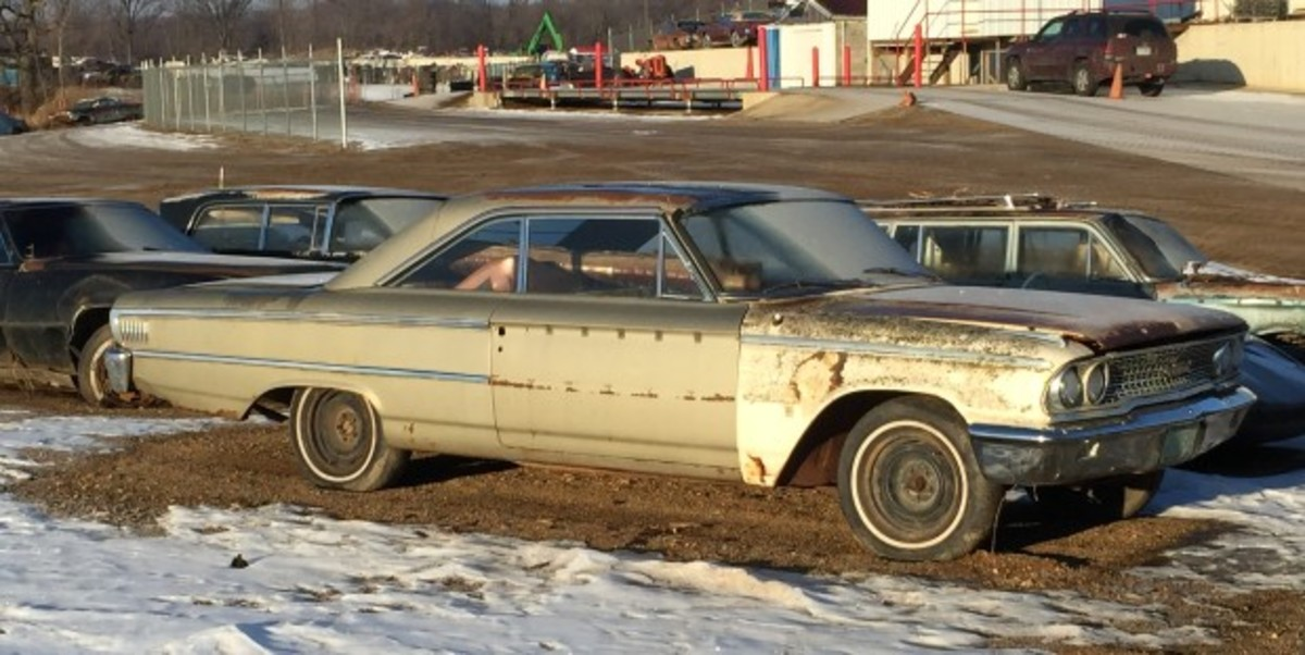 A new arrival - and relatively solid by Minnesota standards - is this 1963-1/2 Ford Galaxie fastback.