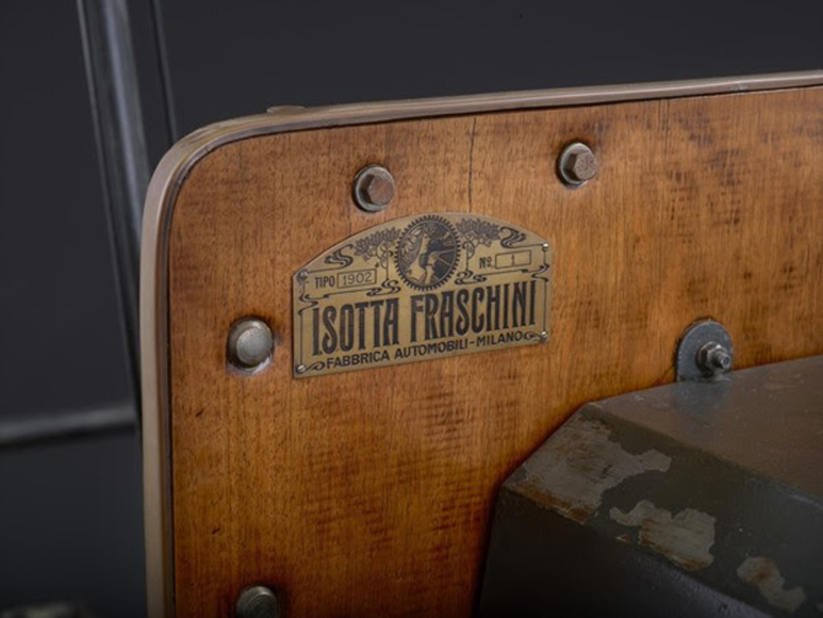 The #1 Chassis tag for the 1901 Isotta