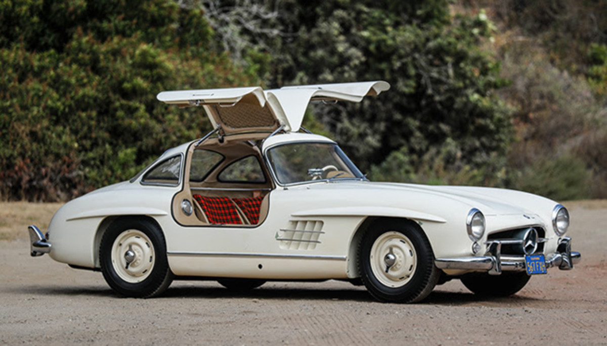 This 1955 Mercedes-Benz 300 SL Gullwing will be one of the stars of Gooding and Co.'s sale. Photo - Gooding & Co.