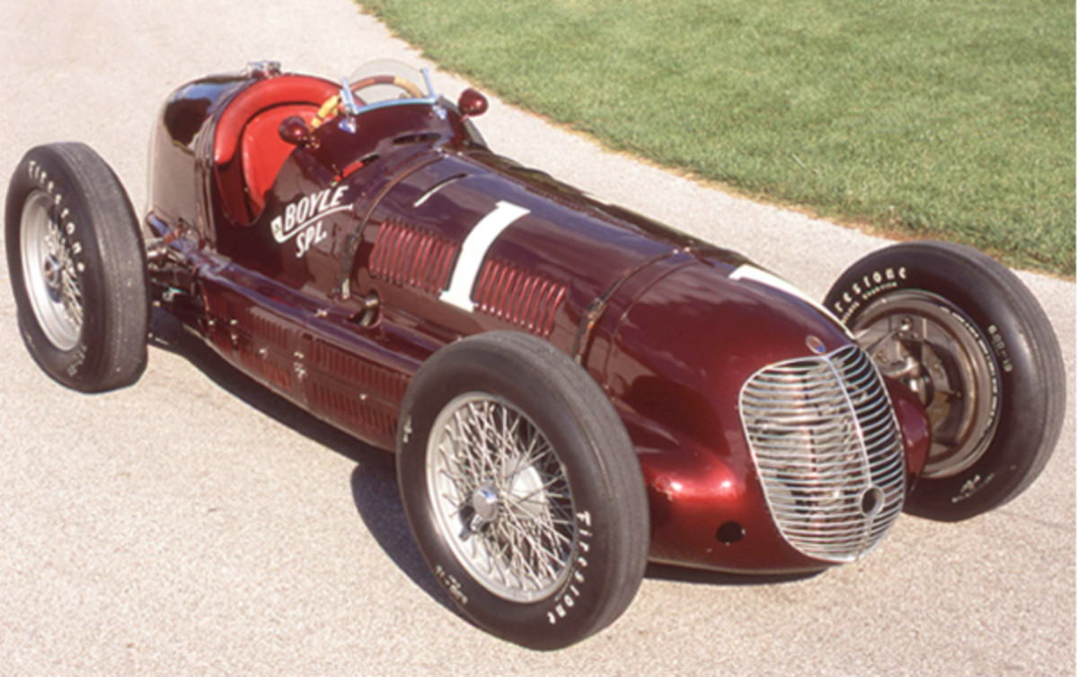 A replica of Wilbur Shaw's winning Maserati