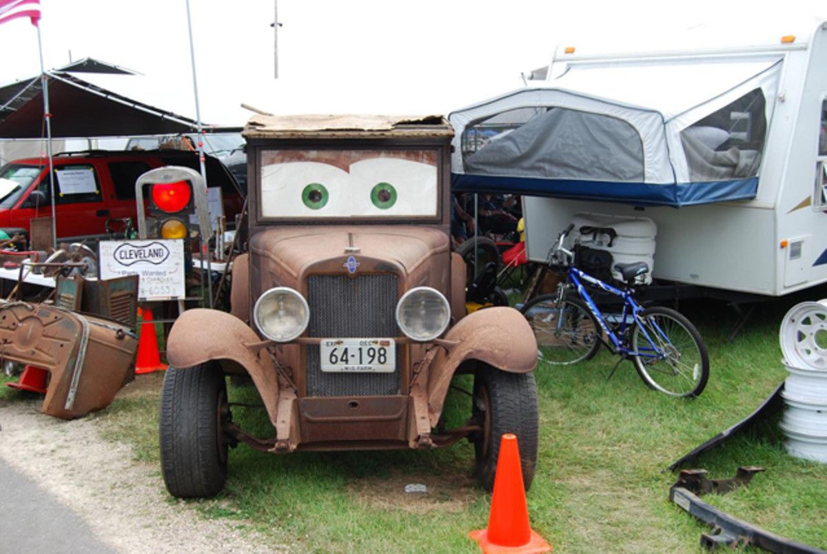 This vendor at the 2014 Iola Old Car Show (www.iolaoldcarshow.org) got lots of laughs with his googly eyed Chevy truck.