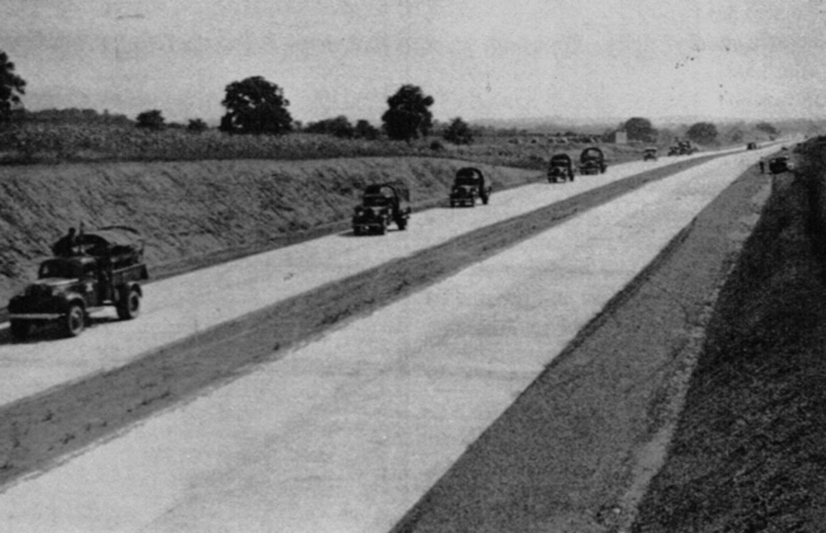 Military convoys took advantage of the Pennsylvania Turnpike prior to its October, 1940 public opening. - PA Turnpike Commission