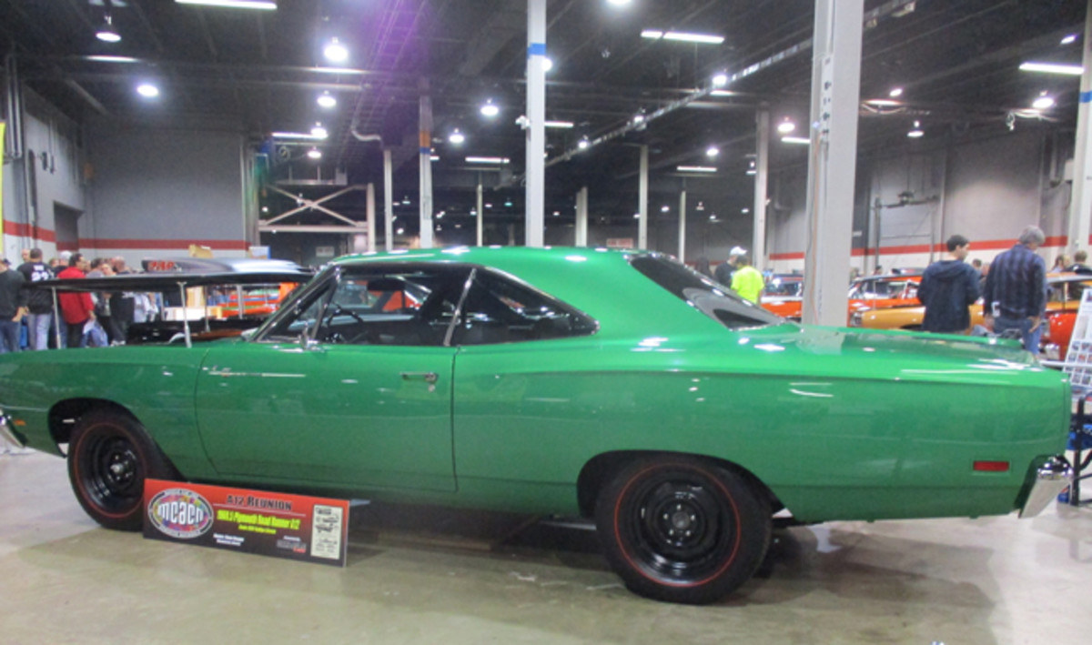 This 1969-1/2 Plymouth Road Runner A12 is finished in Rallye Green, a High Impact Paint color used that year.
