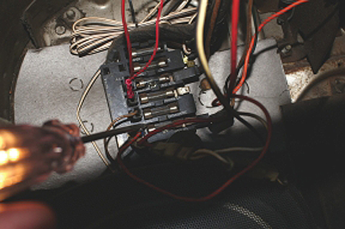 A test light is very useful in tracking down problems and checking fuses. Use a good-quality test light as inexpensive ones can be unreliable.