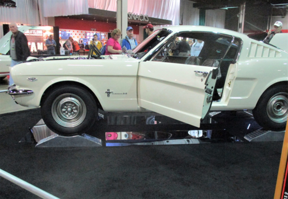 The very first Shelby Mustang GT-350 was rightfully shown on a pedestal at the MCACN.