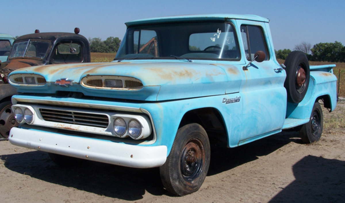 "With just 2 miles on its odometer, this 1960 Chevroelt Apache 10 1/2-ton pickup finally found its first buyer, who paid $46,000 to become its ""original"" owner 53 years after it was built."