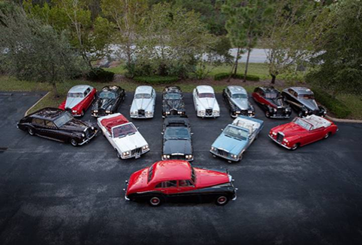 Cars from the bankruptcy estate of entities previously controlled by Bikram Choudhury, offered at Palm Beach (Corey Escobar © 2020 Courtesy of RM Auctions)