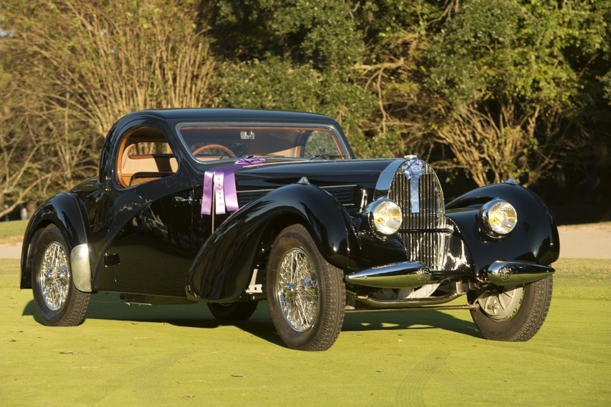 This 1938 Bugatti Type 57C took Best of Show at the Hilton Head Island concours.
