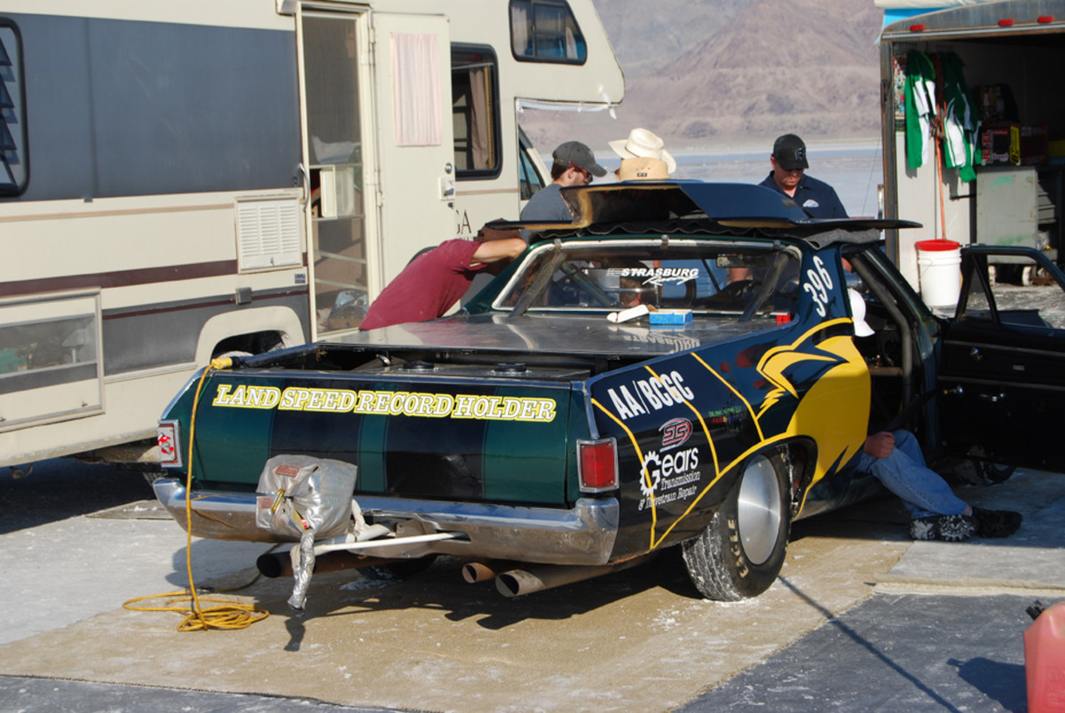 Utah Valley University's El Camino holds AA/CBGC 222.346 mph record.