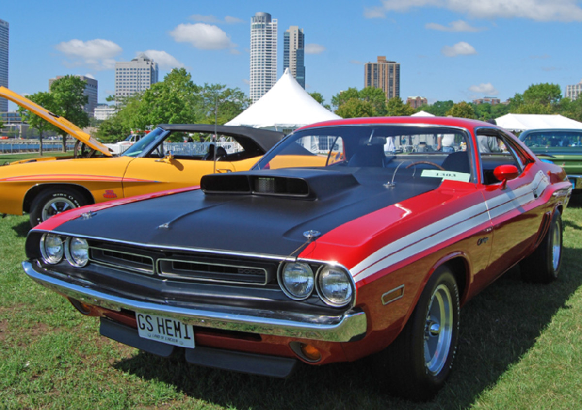 Collector Mike Guarise brought his Survivor-quality 1971 Dodge Challenger to the Milwaukee Masterpiece in 2009.