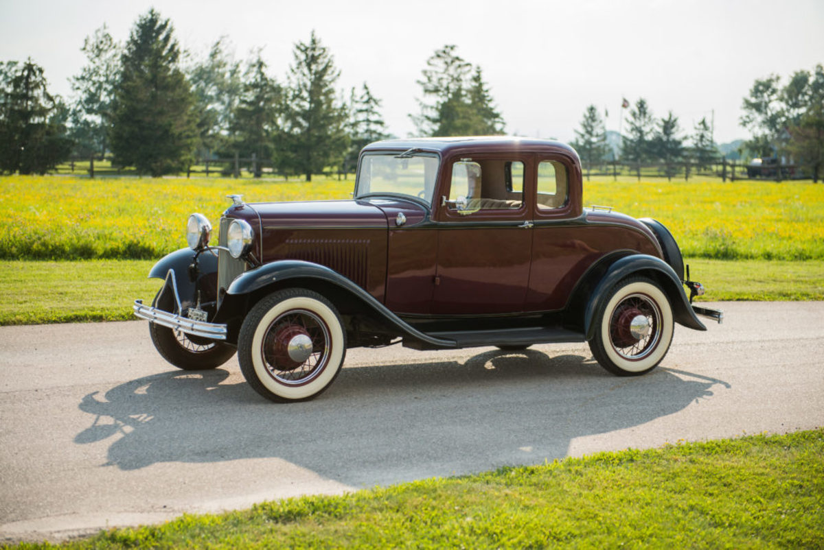 1932 Ford Model B 5W coupe. Courtesy of Auctions America