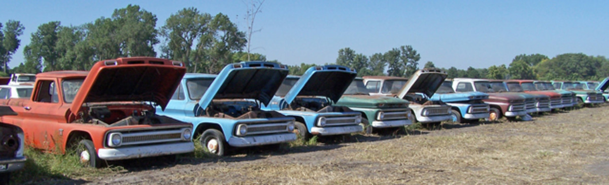 There were 18 unsold 1963-'66 Chevrolet pickup trucks still on MSO in the Pierce, Neb., sale; prices at the auction ranged from $10,500 to $39,000.