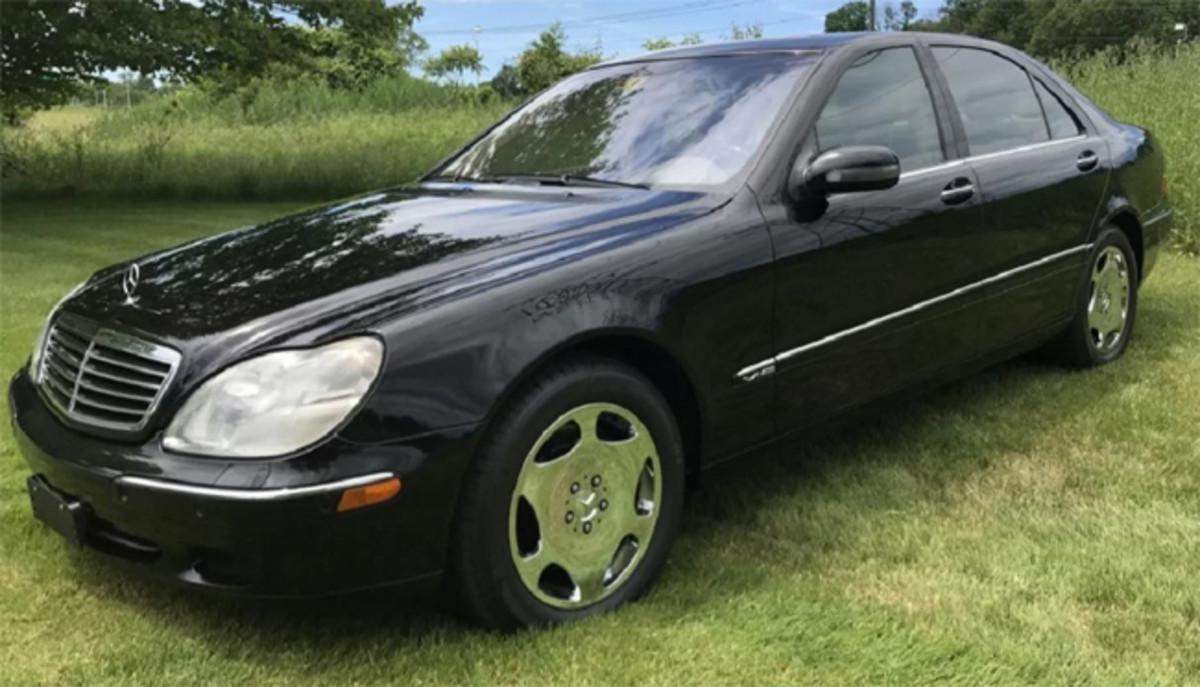 2001 Mercedes-Benz S600 sedan, 40,257 original miles, classic black with tan interior.