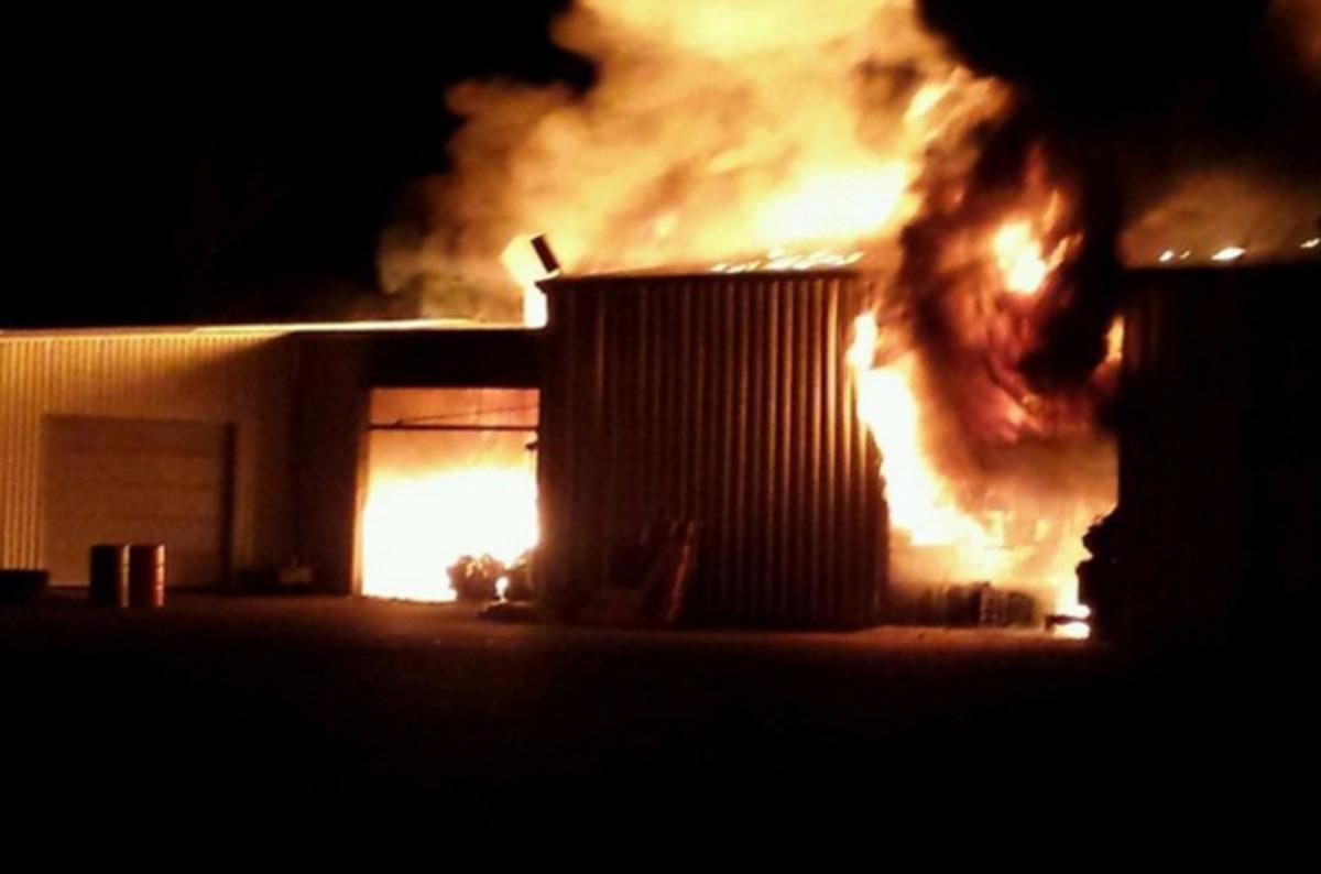 engine shop fire