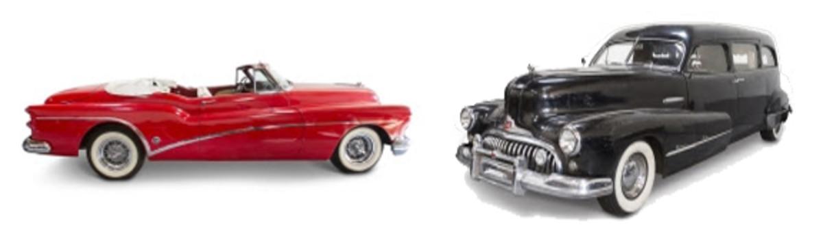 1953 Buick Roadmaster code 76X Skylark Convertible &1948 Buick Roadmaster Hearse