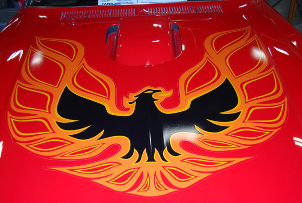 """Flaming Chicken"" hood decal raised the temperature a few degrees."