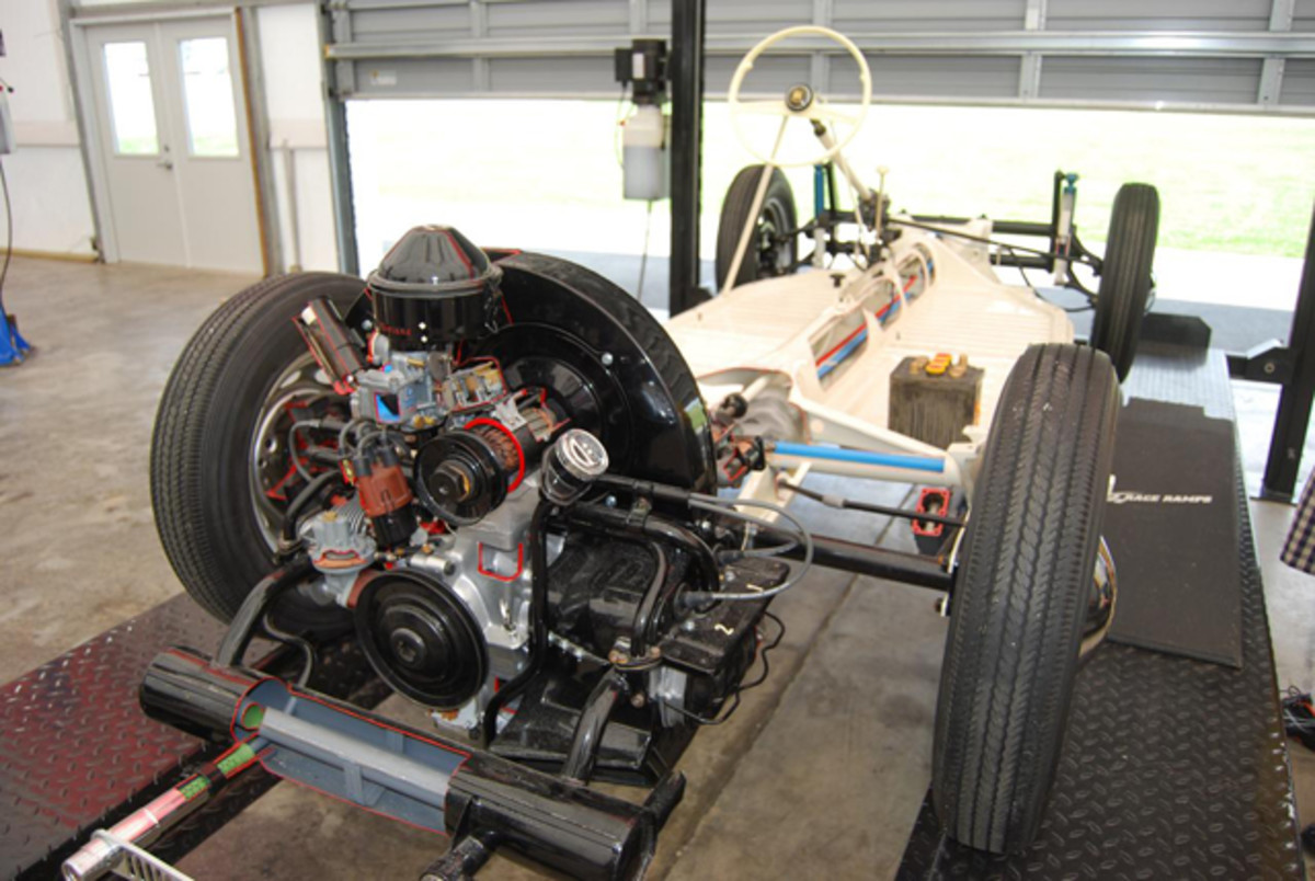 The 1949 VW cutaway chassis.