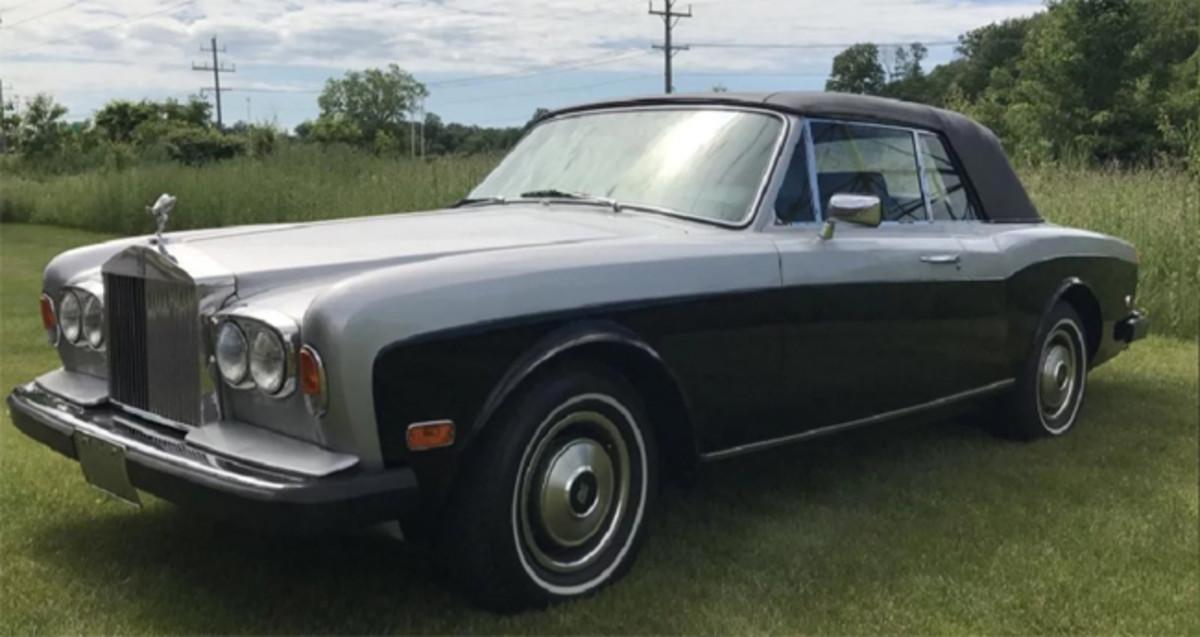 1981 Rolls-Royce Corniche convertible, 15,707 actual miles, classic blue over silver exterior; black interior