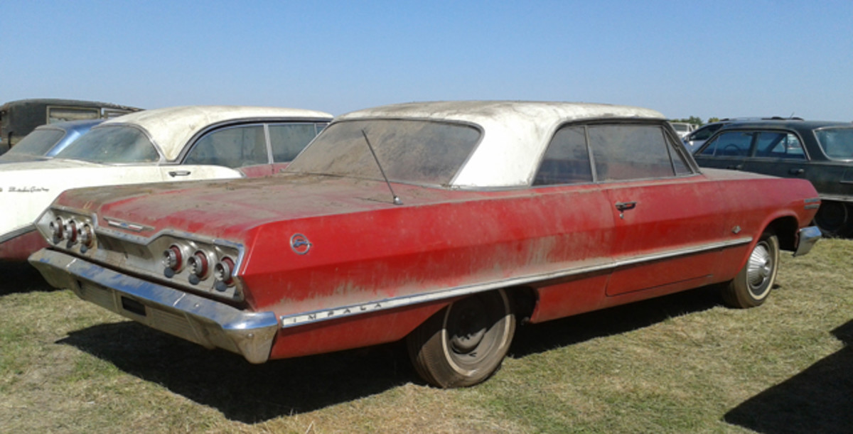 This 1963 Impala with 11 miles was the second-highest-selling car at the VanDerBrink Auctions sale of the Lambrecht collection in Pierce, Neb.