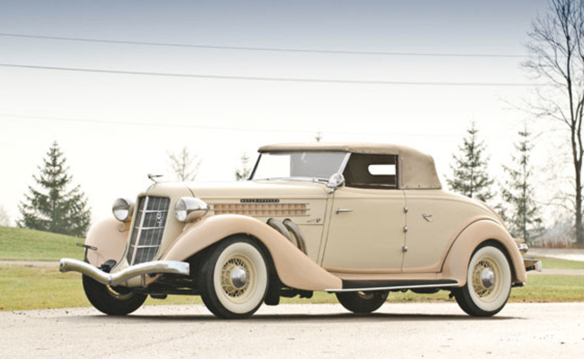 The Auburn automobile was the pride of Indiana in the 1930s, and this 1935 851 Cabriolet with a supercharged eight-cylinder engine illustrates why. The sporty Classic will go across the block at Auctions America by RM's Sixth Annual Collector Cars of Fort Lauderdale Auction to be held March 16-18.