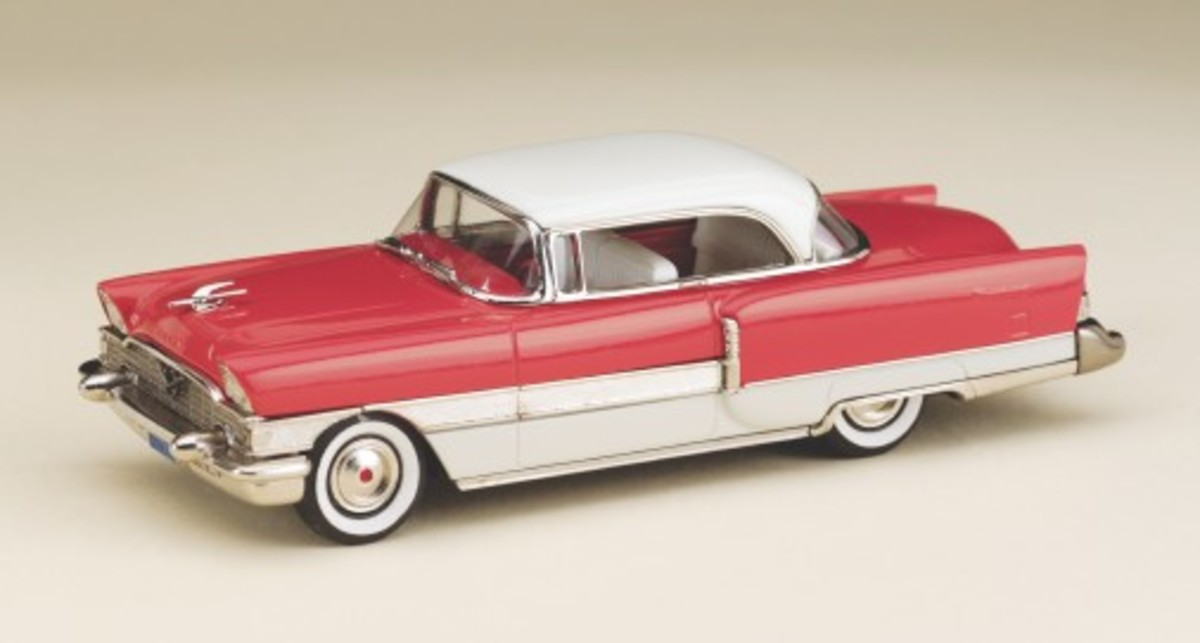 The new 1955 Packard 400 Hardtop model in 1:43 scale by Brooklin Models.