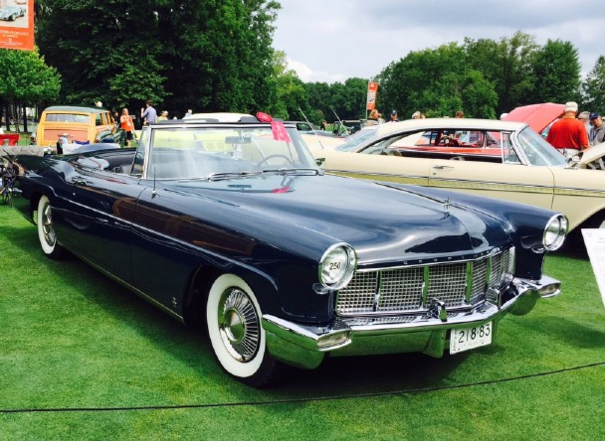 One of the handful of Hess and Eisenhardt-built 1956 Continental Mark II convertibles. Should it have been been a Continental catalog offering?