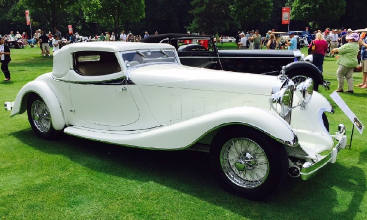 Patterson's 1933 Delage D8S by deVillars was a past Old Cars Weekly cover car the year it was called Best of Show at the Pebble Beach Concours d'Elegance.
