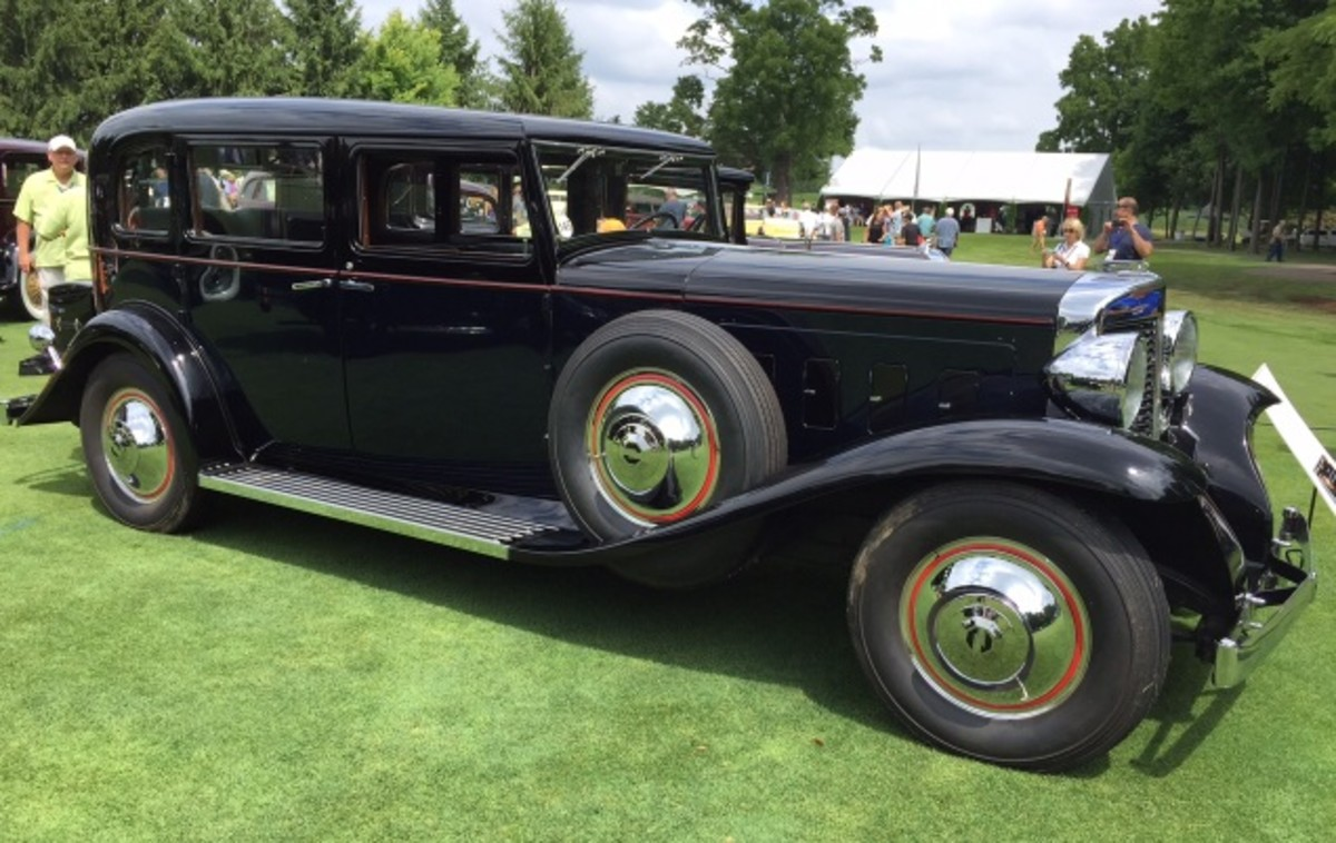 A stunning 1931 Marmon Sixteen. LeBaron provided the coachwork for all the Marmon factory designs. This stunning black example is owned by Mike and Joan Huffman.