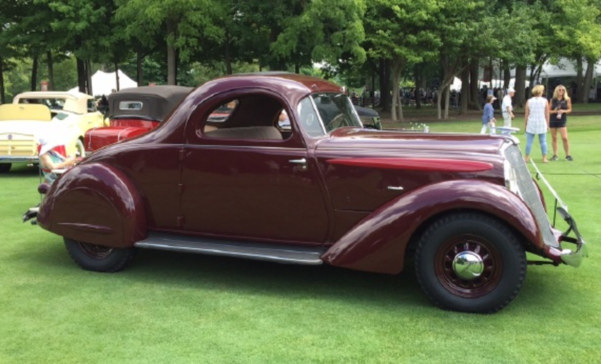 """This is why they don't let me determine the """"Best of Show"""" honors. Yes, I'd pick this 1935 Hupmobile Aerodynamic coupe in a heartbeat. The Raymond Loewy design is a symphony of curves that sings to me. I've long been a fan of these, even though last weekend was the first time I had seen one in the steel."""