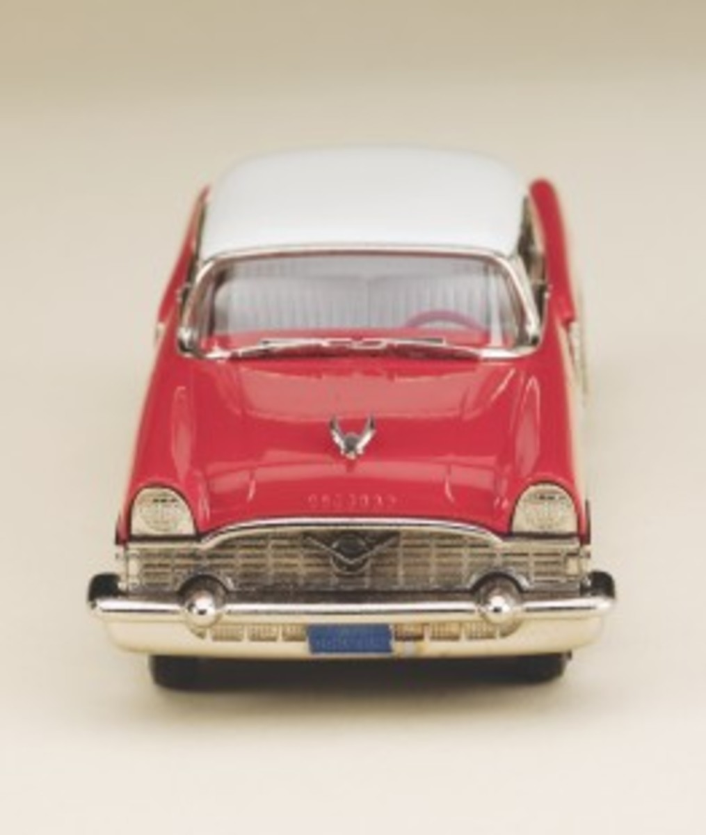 Grille view of the new 1955 Packard 400 Hardtop model in 1:43 scale by Brooklin Models.