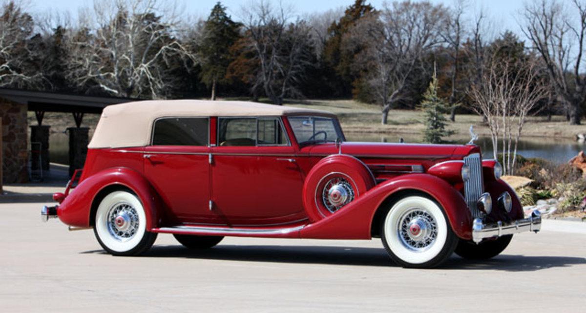 1935 Packard Twelve convertible sedan.