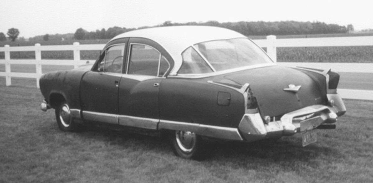 Chuck and Betty Hucker's 1955 Kaiser sedan was the the last Kaiser to be built on the assembly line at the Toledo plant before production was permanently halted.