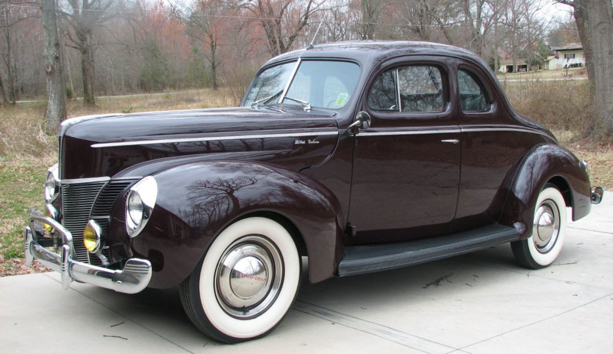 This 1940 Ford Deluxe Opera Coupe is scheduled to cross the auction block at the Tom Mack Spring Fling April 19-20 in Charlotte, N.C.